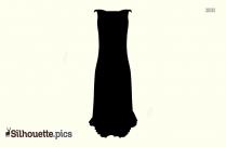 Long Sleeveless Dress Silhouette
