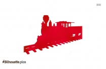Cartoon Train Engine Clipart Silhouette