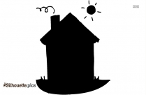 Cartoon Small Home Clipart Image Silhouette