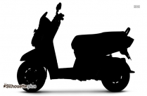 Electric Scooter Logo Silhouette For Download
