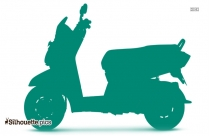 Honda Scooter Silhouette Drawing