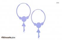 Silver Hoop Earring Logo Silhouette For Download