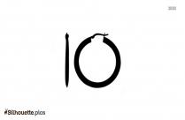Black Hoop Earring Silhouette Image