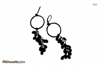 Hoop Earrings Silhouette Clipart
