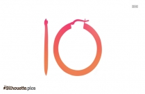 Classic Hoop Earring Silhouette Vector And Graphics