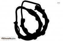 Small Hoop Earrings Silhouette Illustration