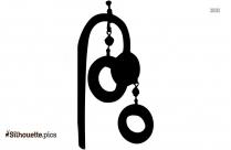 Hoop Earrings For Girls Silhouette Clipart, Earrings For Women Graphics