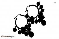 Vintage Hoop Earring Silhouette