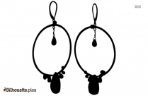 Hoop Earring Silhouette Background