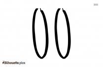 Cartoon Hoop Earrings Silhouette Clipart Image