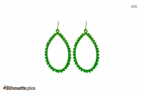 Hoop Earrings Silhouette Art Image Vector