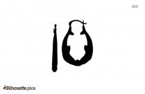 Hoop Earrings Clipart Silhouette
