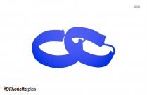 Hoop Earrings Silhouette Clipart Image