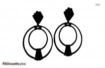 Silver Hoop Earring Silhouette Clipart