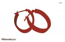 Hoop Earrings For Girls Silhouette Clip Art For Free