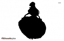 Hoop Skirt Silhouette Background