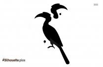 Hornbill On A Branch Clip Art