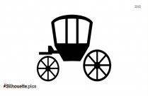 Horse Cart Icon Silhouette