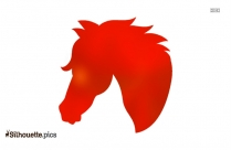 Toy Horse Head Silhouette