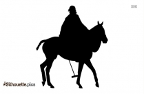 Horse Racing Silhouette