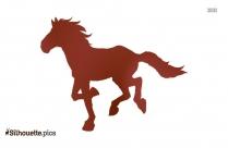 Horse Running Silhouette Illustration