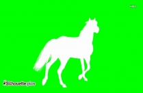 Horse Walking Silhouette Clip Art