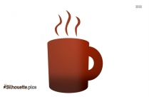 Hot Coffee Cup Silhouette Clip Art