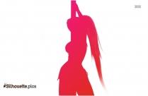 Pole Dancer Silhouette Image
