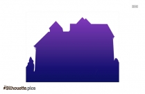 Small House Silhouette Free Vector Illustration