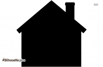 Small House Silhouette Silhouette Free Vector Art