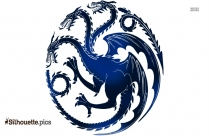Dragon Fire Tattoo Vector Silhouette