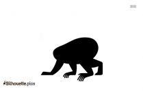 Monkey Jumping Clipart Silhouette