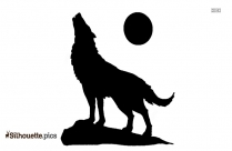 Wolf Silhouette Vector In White Background