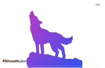 Howling Wolf Symbol Silhouette