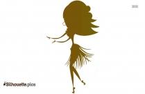 Hula Dancing Clipart Silhouette