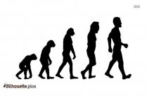 Human Evolution Silhouette, Darwinism Clip Art