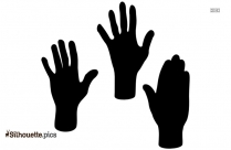 Black And White Hand Silhouette