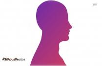 Female Profile Silhouette Clip Art