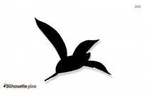 Hummingbird Silhouette, Clipart Image
