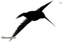 Bird Flying Away Silhouette Drawing