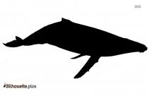Male Guppy Fish Silhouette