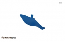 Fin Whale Clipart Vector Image Silhouette