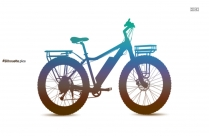 Ladies Bicycle Silhouette Free Vector Art
