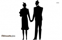 Husband Wife Married Clip Art Silhouette