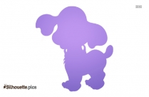 Cute Pupppy Silhouette Image And Vector