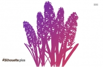 Purple Poppy Silhouette, Flower Clipart