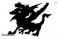 Hydra Black And White Silhouette