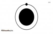 Hydrogen Atom Silhouette Free Vector Art