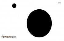 Hydrogen Atom Silhouette Image