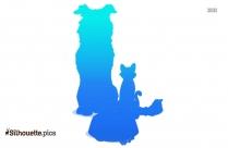 Hyper Dog Cartoon Silhouette Clip Art